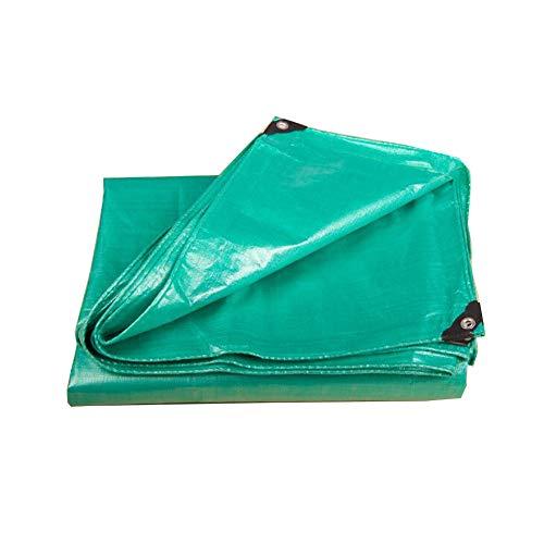 移住するカバー皮肉KKCF オーニング耐寒性防風アンチサン耐摩耗性老化防止屋外カーポートポリエチレン 、180 / M2 、18サイズ (色 : Green, サイズ さいず : 1.9x2.8m)