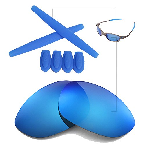 Walleva Polarized Ice Blue Lenses And Ice Blue Earsocks For Oakley X Metal XX