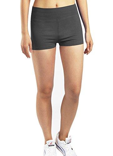 iLoveSIA Pantalones de yoga y gimnasio pantalones cortos para mujer 3Paquetes(Negro + Blanco + Gris)