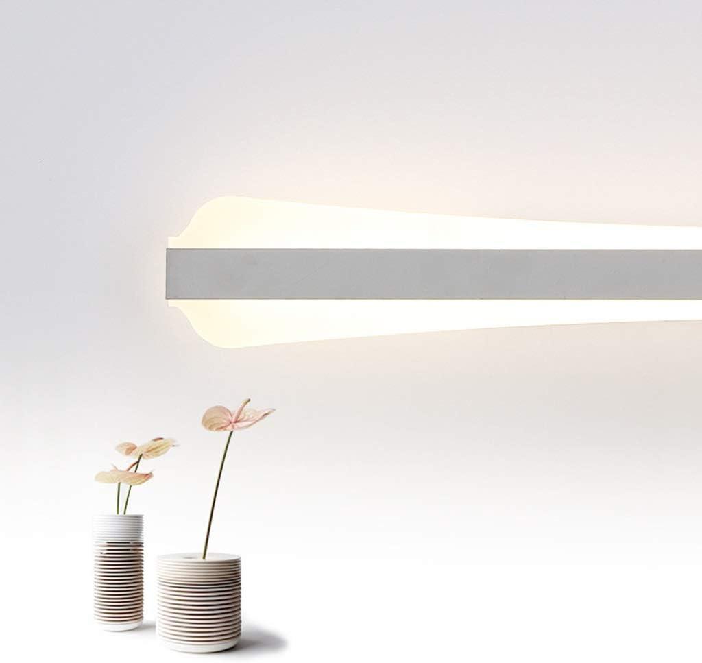 & Spiegellampen LED Spiegelleuchte Badezimmer Wasserdichte Schminktisch Spiegel Kabinett Licht Acryl Wandleuchte [Energieklasse A ++] (Color : White light-80cm) Warm Light-100cm