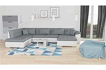 72849cb8372b40 Chloe Design Canapé d angle Convertible en U Alta VII - Angle Droit - Gris