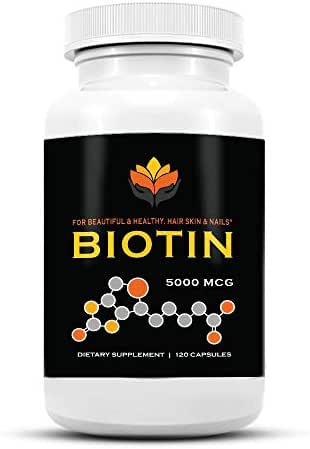 Me First Living Biotin Supplement 10,000 MCG, Vegan, All Natural, Hair Growth, Nail Growth & Strength and Cell Rejuvenation - 120 Capsules