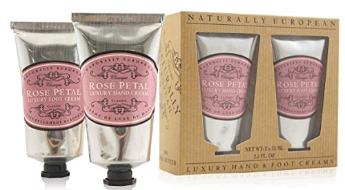 Naturally European Rose Petal Luxury Hand And Foot Cream Gift Set 2 x 75ml... ()