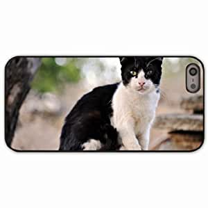 iPhone 5 5S Black Hardshell Case outdoor sit mustache face Desin Images Protector Back Cover