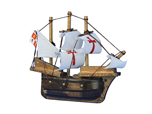 Wooden Santa Maria Tall Model Ship Magnet 4