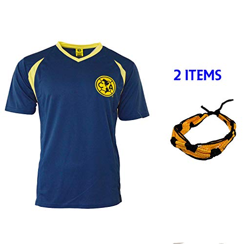 a49ff2a7033 Club America Soccer Jersey Mexico FMF Adult Training Aguilas del America  (Blue, XL)