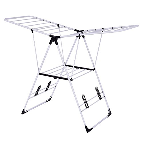 HomeTech 3 Tier Foldable Drying Rack for Laundry Wing Shape