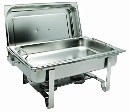 Winco Get-A-Grip Chafer with Food Pan Handles C-2080B 8-Quart Stainless Steel Winco USA