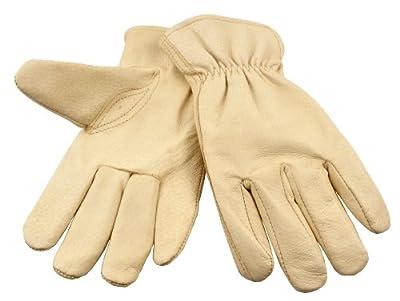 G & F Grain Pigskin Leather Work Gloves, 3-Pair