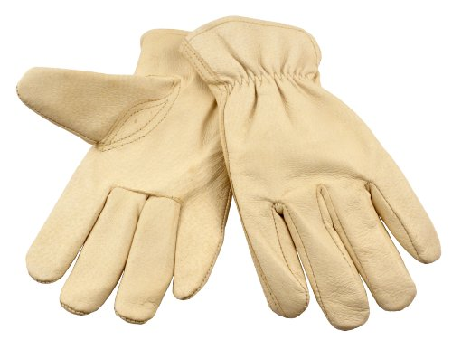 G & F 2002XL-3 Full Grain Pigskin Leather Work Gloves, Drivers Gloves, Premium Washable leather, Size XLarge. (Value Pack: 3 pairs)