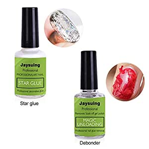 Magic Nail Polish Remover Set of 2, Hamkaw Professional Removes Soak-Off Gel Polish in 3-5 Minutes for Removing Nail Polish at Home - Easily Quickly - Don't Hurt Your Nails