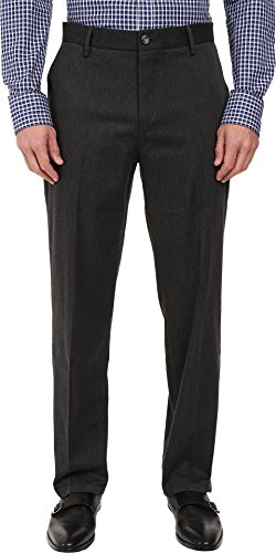 Dockers Classic Fit Signature Khaki Pants Pleated D3 Charcoal (Cotton Pleated Twill Pants Charcoal)