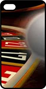 Casino Vegas Roulette Wheel Black Plastic Case for Apple iPhone 5 or iPhone 5s