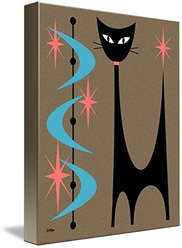 Imagekind Wall Art Print entitled Atomic Cat Turquoise Boomerangs by Donna Mibus 41sDKOy3TxL