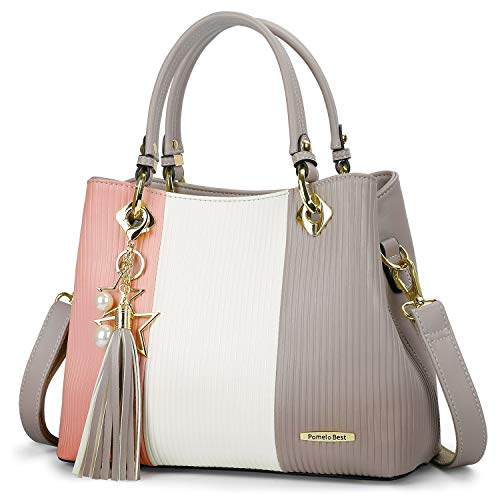 Handbags for Women, Satchel Bags with Shoulder Strap in Pretty Colors Combination