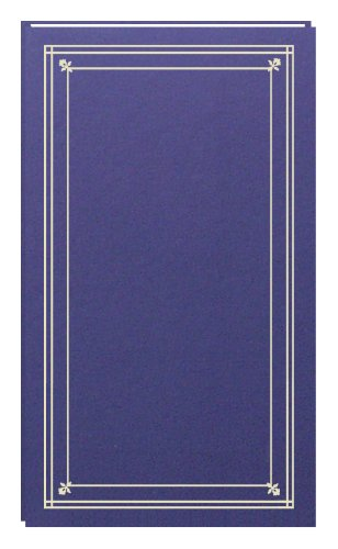 Pioneer Photo Albums 204-Pocket Post Bound Slim Line Leatherette Cover Photo Album for 4 by 6-Inch Prints, Bay Blue