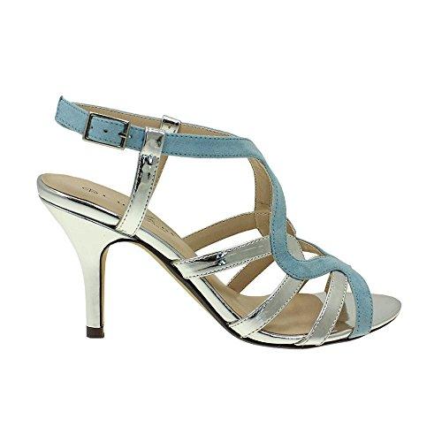 Lunar Alston Elegance Sandal in Blue or Pink with Silver Trims, 3,4,5,6,7,8 7 Blue