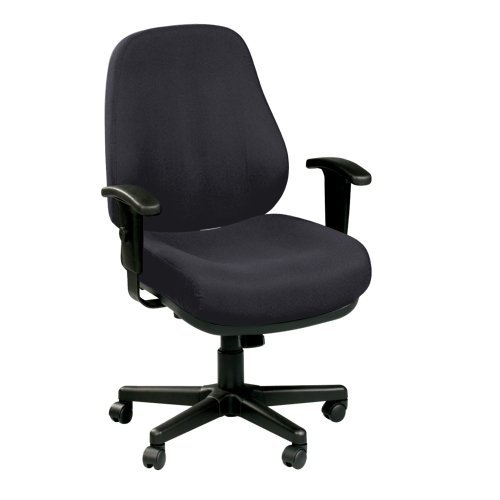 Eurotech Seating 24/7 Collection Heavy Duty Ergonomic Task Chair, Black Fabric (Eurotech Office Chairs)