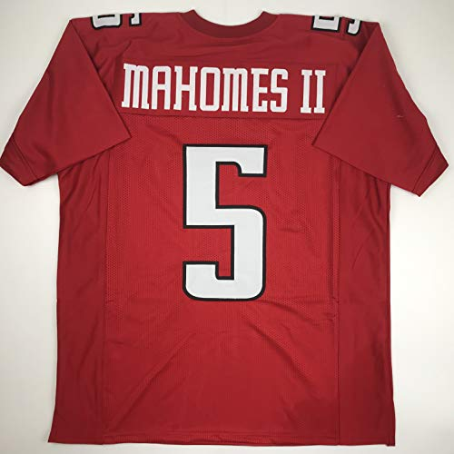 (Unsigned Patrick Mahomes II Texas Tech Red College Custom Stitched Football Jersey Size Men's XL New No Brands/Logos)