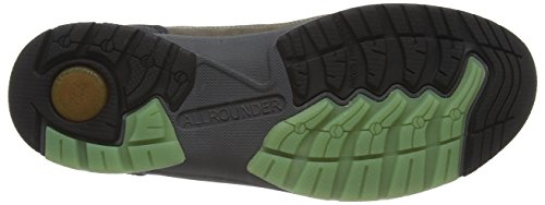 Allrounder by Mephisto DASCHA-TEX RUBBER 1/G.NUBUK 34 BLACK/FOG - Zapatillas De Deporte Para Exterior de goma mujer marrón - Braun (BLACK/FOG)