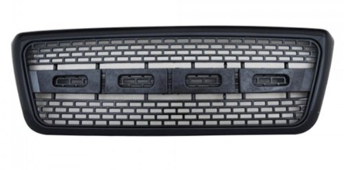 2004-2008 FORD F150 RAPTOR STYLE GRILLE - ALL BLACK FINISH