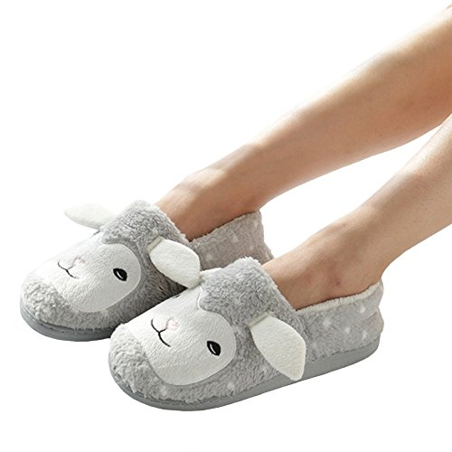 House Comfortable Women Sole Slippers Sheep Cute for Shoes Cozy Home bestfur Soft Plush 0XxwqOZZ