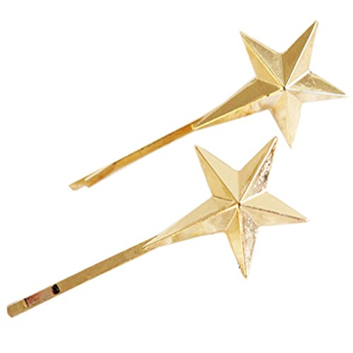 [Shiny Star] Fabulous Hair Pins Decorative Metal Hair Clips Side Clips,2 (Fabulous Feather Pin)