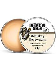 Brooklyn Soap Company Whiskey Baardwax, natuurlijke stylingwax met edele whiskey geurnoot voor baardstyling van 3 dagen baard tot volle baard, sterke grip, lichte glans