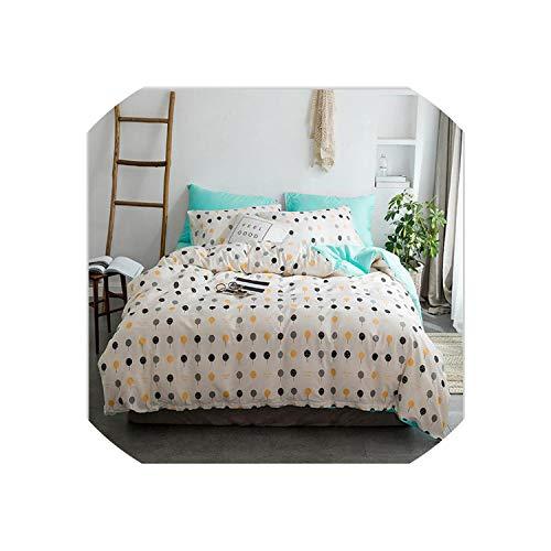 (Maja Shop-Bedspread 4Pcs Simple Style Quality Duvet Cover Bed Sheet Mattress Cover Pillowcase Quilt Cover Pure Cotton Bedding Set,Style 8,3Pcs 1.2M,Bedskirt)