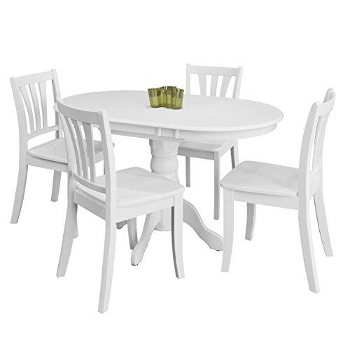 CorLiving DSH-410-Z2 Dillon Dining Set, White