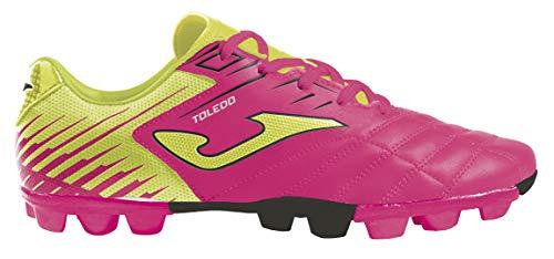 Joma Kids' Toledo JR MD 24 Soccer Shoes (9 Toddler, Neon Pink/Neon Yellow/Black) (Toddler Soccer Shoes Girl)