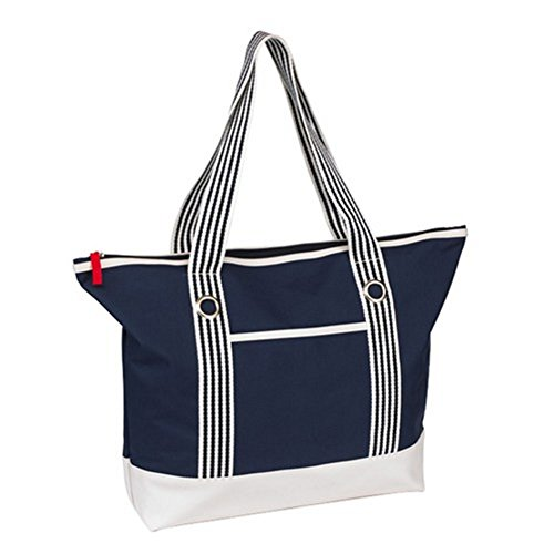 Sac plage blanc shopping de Weekend tendance marine Bleu 7rBq75