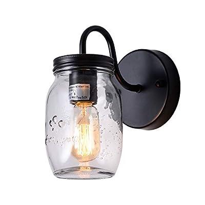 XIPUDA Retro Mason Jar Lights Fixture