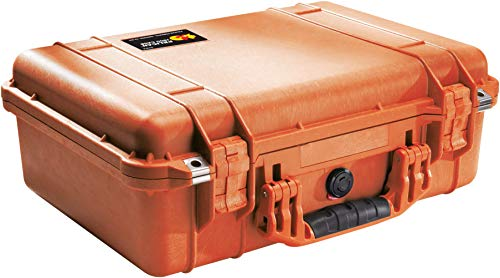Pelican 1500 Camera Case With Foam (Orange)