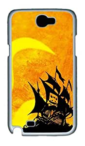 Samsung Galaxy Note 2 Case and Cover- Cassette Tape Pirate PC Case for Samsung Galaxy Note 2 / Note II / N7100 White