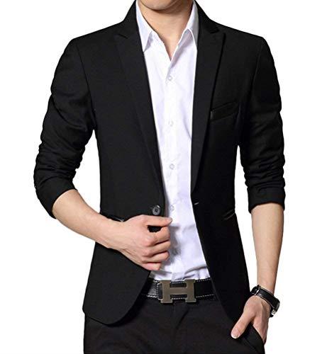Con Giovane Lavoro Uomo Leisure Outwear Blazer Saoye Da Schwarz Fit 2 Bottone Suit Slim Giacca Fashion Xw8WH7