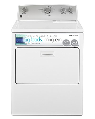 Price comparison product image Kenmore 75132 7.0 cu. ft. Gas Dryer with SmartDry Plus Technology in White,  includes delivery and hookup