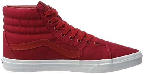 Vans UA Sk8-Hi, Sneakers Hautes Homme Rouge (Mono Canvas Chili Pepper/true White)