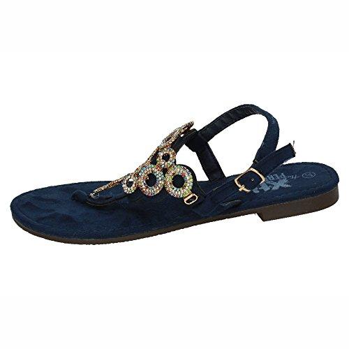 Hombre Mujer Sandalias XTI Azul 48055 7p105