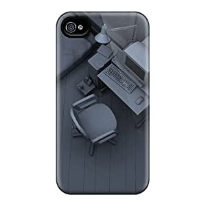First-class Cases Covers For Iphone 4/4s Dual Protection Covers Office Prison 3d