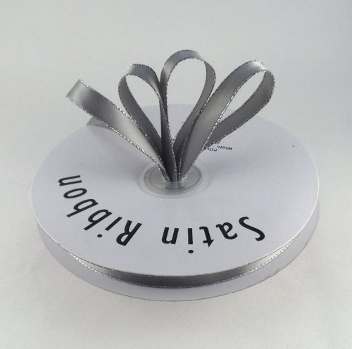 3/8 Gray Satin Ribbon By The Spool