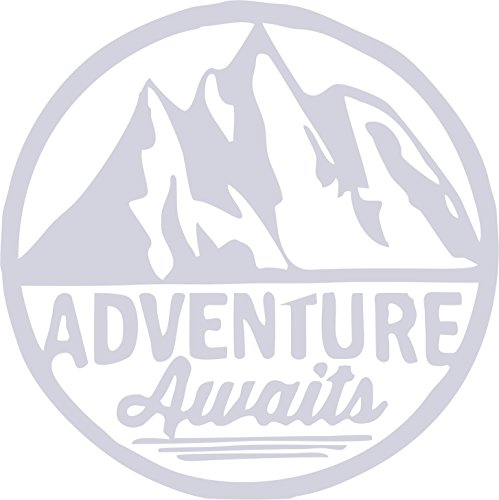 - ADVENTURE AWAITS REFLECTIVE CAR / TRUCK / DECAL STICKER WITH ALCOHOL PAD ~ SIZE 5 14/16