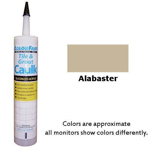 Color Fast Colored Caulk to Match Hydroment Sanded - 20 Colors Available (Alabaster)