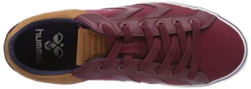 hummel HUMMEL DEUCE COURT PREMIUM - zapatilla deportiva de lona unisex rojo - Rot (Cabernet 3661)