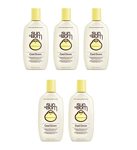 Price comparison product image Sun Bum Cool Down Uknil Hydrating After Sun, 8 oz - After Sun Lotion (5 Pack)