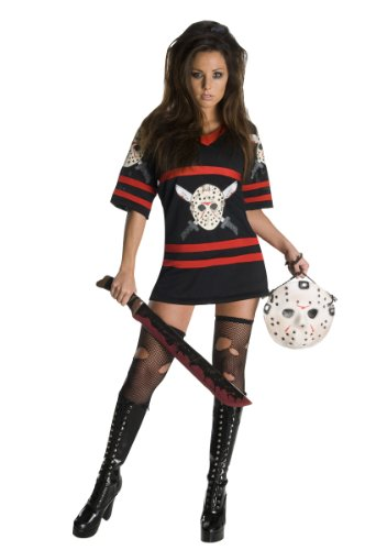 Secret Wishes  Friday The 13Th, Miss Voorhees Mini-Dress And Handbag, Black, Large (Womens Halloween Costumes Sale)