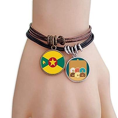 SeeParts Grenada North Ameica National Emblem Bracelet Rope Doughnut Wristband Estimated Price £9.99 -