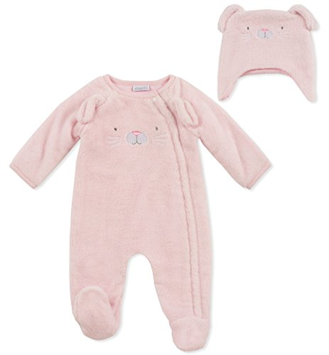 absorba Baby Girls Footie with Hat