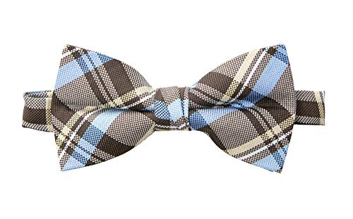Spring Notion Men's Tartan Plaid Woven Bow Tie Brown