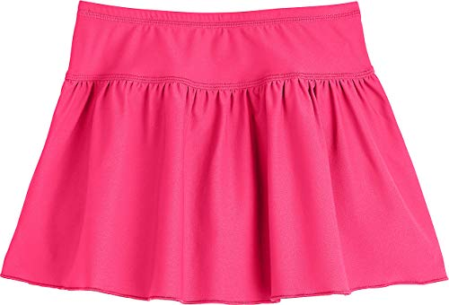 Coolibar UPF 50+ Girls' Wavecatcher Swim Skirt - Sun Protective (X-Small- Aloha Pink) (Toddler Girls Swim Skirt)